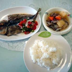 フィリピン妻お昼ご飯