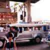 フィリピンの乗り合いバス・ジープニーの写真
