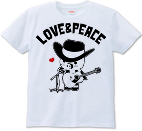 ラブ&ピースTシャツ