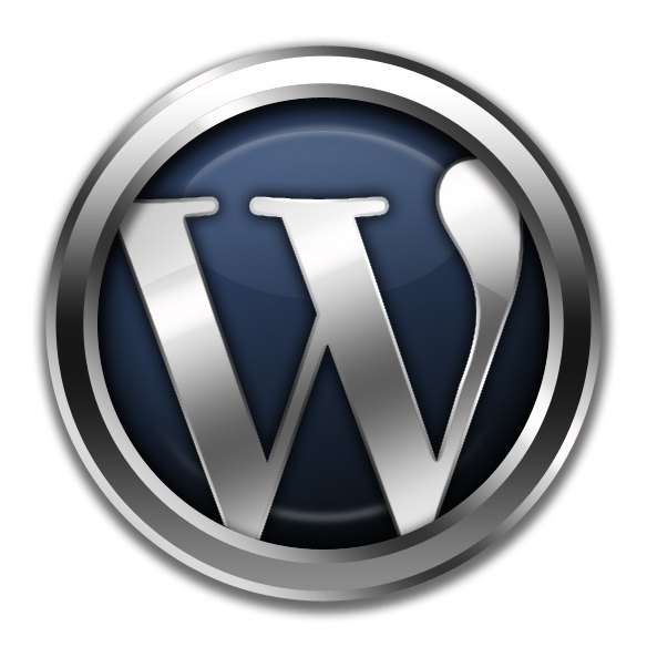 pretty_awesome_3d_metal_wordpress_logo