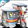 【4コマ】フィリピンの三輪タクシー「トライシクル」ってどんな乗り物?