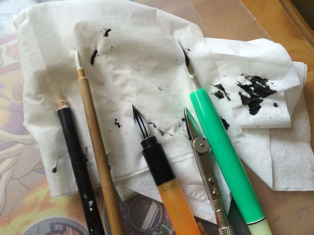 烏口、Gペン、ホワイト筆…ボクの懐かしの漫画道具たち!